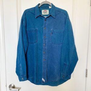 LEVIS • Oversized Two Tone Denim Button Up Shirt